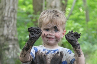 Muddy toddler