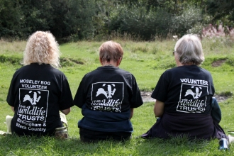 Volunteers at Moseley Bog