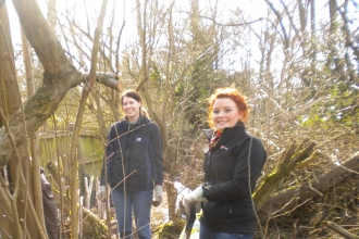 Volunteers at Hill Hook nature reserve