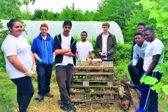 Teenagers taking part in John Muir Discovery Award