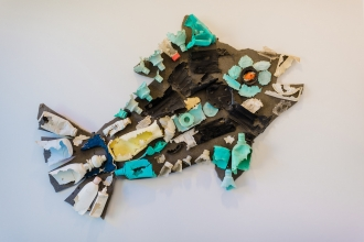 Fish made out of waste plastic