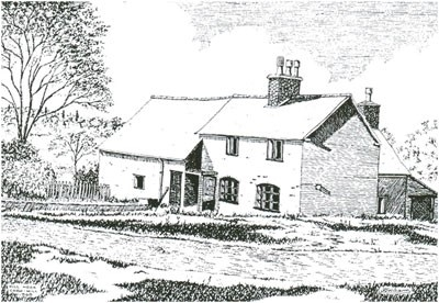 Hill Hook Mill in pen and ink by KJ Williams