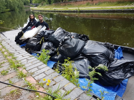 53 bags of plastic fished out of Birmingham canals